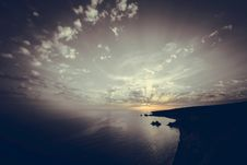 Free Sunset Over The Sea. Toned Photo Stock Images - 95697504