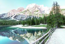 Free Mountains Reflecting In Alpine Lake Stock Photos - 95697563