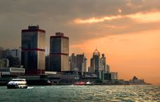 Free Evening Hong Kong. Stock Image - 95697611