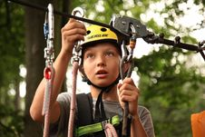Free Boy On Zipline Royalty Free Stock Images - 95697759