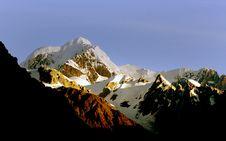 Free Sunset Mt Tasman. New Zealand. Royalty Free Stock Images - 95697809