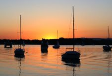Free Sunset Noosa River. Royalty Free Stock Photos - 95697858