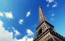 Free Eiffel Tower Against Blue Sky Royalty Free Stock Photo - 95697875