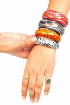 Free Wooden Bracelets Stock Image - 9570341