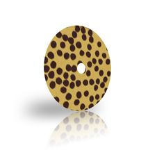 Free Laser Disk Template With Cheetah Fur Royalty Free Stock Images - 9571139
