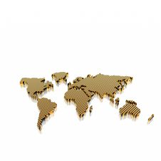 Free Model Of The Geographical World Map Stock Image - 9571151