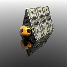 Free 100 Usa Dollars House Roof Stock Image - 9571321