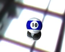 One Pool Billiard Ball Stock Photo