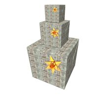 Free Gifts Box Pyramid With Us Dollar Note Texture Royalty Free Stock Images - 9571449