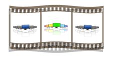 Free Film With Monitors In A Row Isolated On A White Royalty Free Stock Image - 9571866