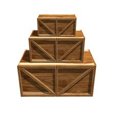 Free Wooden Crates Royalty Free Stock Photography - 9571867