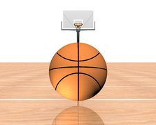 3d Basketball Isolated On A White Stock Image