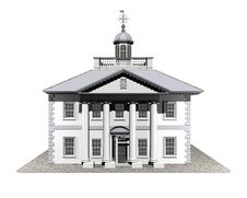 3d House Model Royalty Free Stock Image