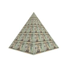 Dollar Pyramid Stock Photo