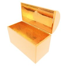 Treasure Chest Isolated On A White Royalty Free Stock Image