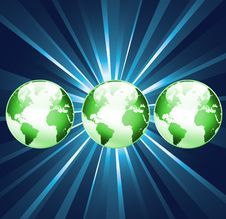 3 World Globes Background Royalty Free Stock Images