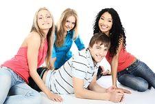 Free Among Girls Royalty Free Stock Image - 9573226