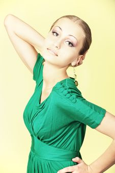 Free Green Dress Royalty Free Stock Photo - 9573325