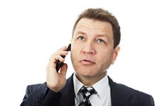 Free Phoning Man Royalty Free Stock Images - 9573369