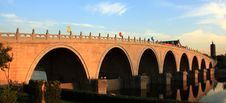Free Bridge Over Jing-hang Grand Canal Royalty Free Stock Image - 9574516