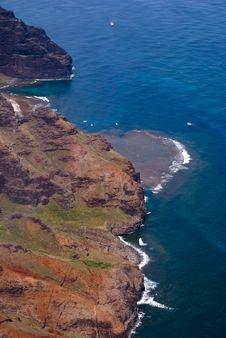 Free Looking Down On The Hawaiian Coast Royalty Free Stock Photo - 9574935