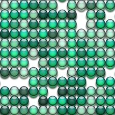Green Marbles Stock Image
