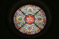 Circular Window Of A Church Royalty Free Stock Photos