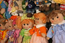 Free Colorful Dolls Royalty Free Stock Images - 9575879