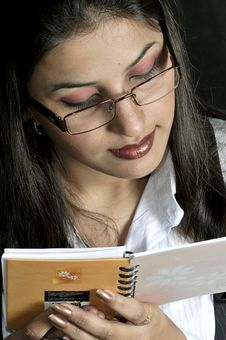 Free Girl Reading The Notebook Stock Photo - 9577290