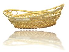 Free Hand Made Wooden Basket Royalty Free Stock Photo - 9577695