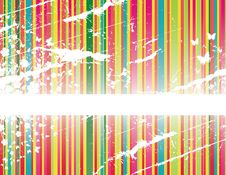 Free Floral Stripes Background Stock Image - 9577721