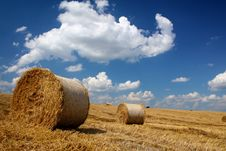 Free Straw Bales Royalty Free Stock Photography - 9578187