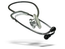 Free Medical Stethoscope With Shadow Stock Photography - 9578262