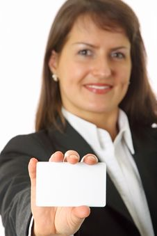 Professionals White Business Card Royalty Free Stock Image