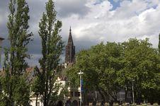 Cathedral In Strasbourg Stock Image