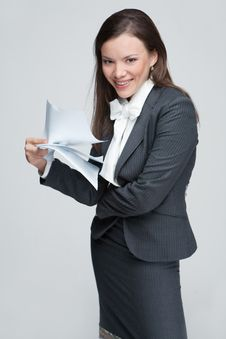 Free The Smiling Business Woman Stock Photography - 9579092