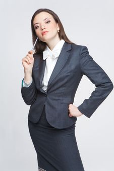 Free The Business Woman Royalty Free Stock Image - 9579126