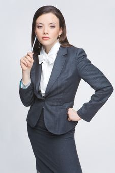 Free The Business Woman Royalty Free Stock Photography - 9579127