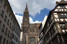 Cathedral In Strasbourg Royalty Free Stock Photography