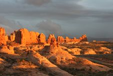 Free Sunset At Arches National Park Royalty Free Stock Photography - 9579427