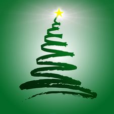 Free Christmas Tree Zig Zag Illustration Stock Image - 9579631