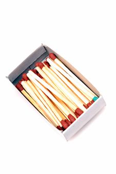 Free Matchsticks In Match Box Stock Photos - 9579803