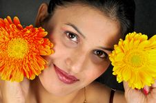 Free Girl With Flower Stock Photos - 9579863
