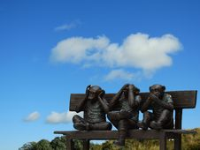 Free Three Little Monkeys Sculpture Stock Images - 95740184