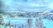 Free Frozen Mountain Lake Stock Photography - 95798442