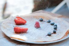 Free Crepes With Fresh Berries Stock Photos - 95798483