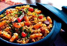 Free Shrimp And Rice Meal Royalty Free Stock Image - 95798486