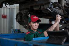 Free Female Automotive Mechanic Stock Images - 95798494