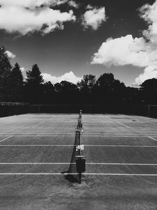 Free Tennis Courts Marked Out  Stock Photography - 95798512
