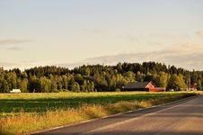 Free Farm By Road Stock Images - 95798514